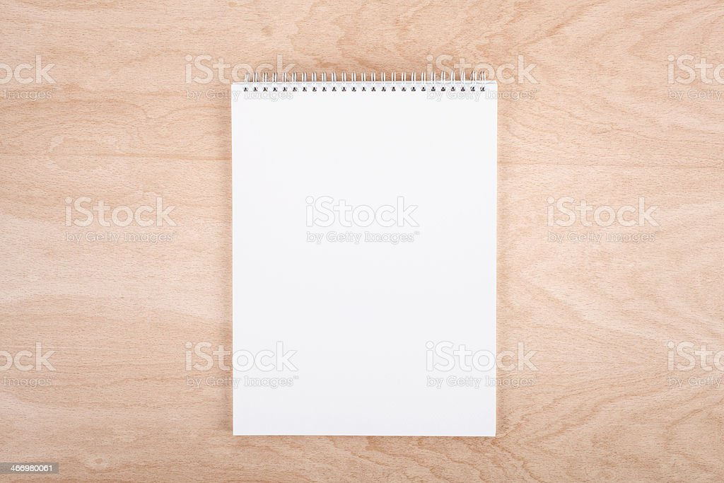 Blank ring binder royalty-free stock photo