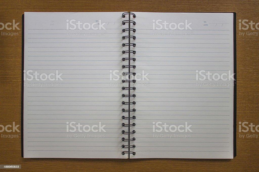 Blank ring binder.Notebook royalty-free stock photo