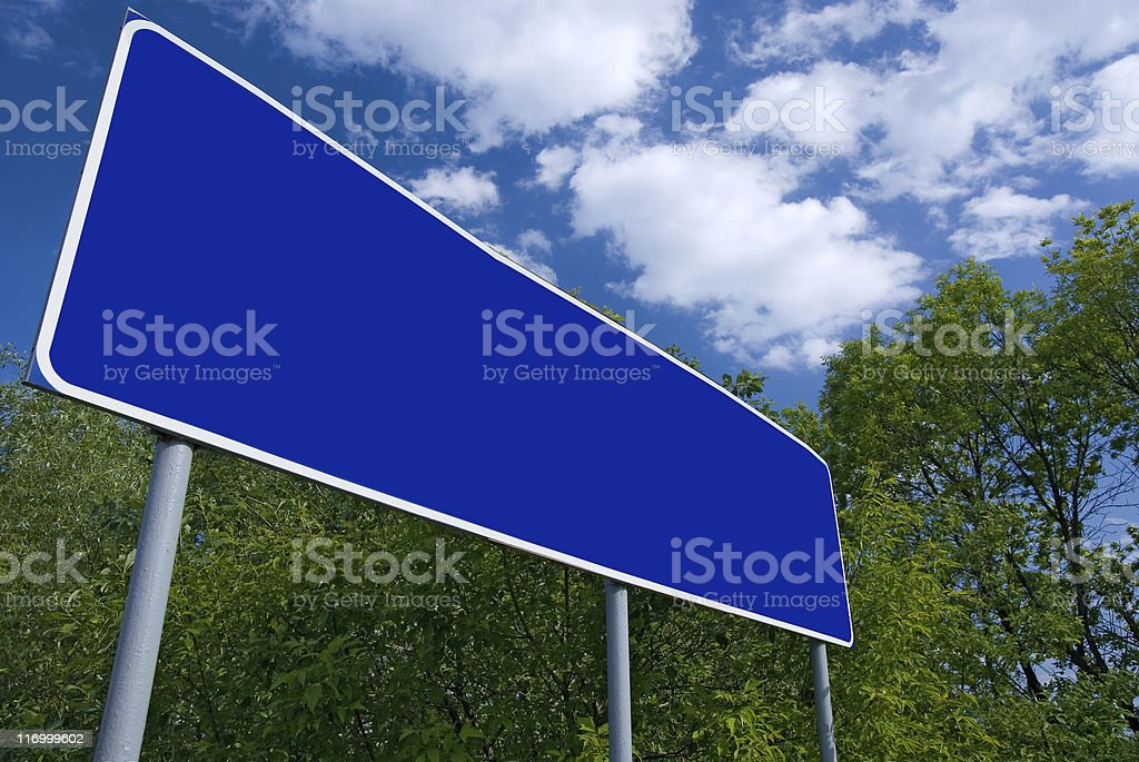 Blank road index royalty-free stock photo