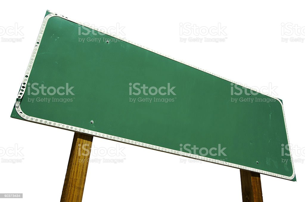Blank Road Sign Isolated royalty-free stock photo