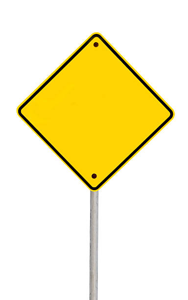 blank road sign (with path) - road signs stock photos and pictures