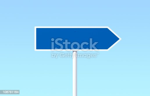 istock Blank Road Sign 108761184