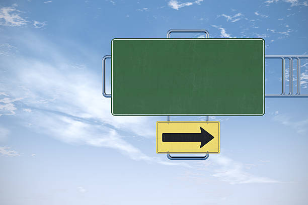Blank road sign stock photo