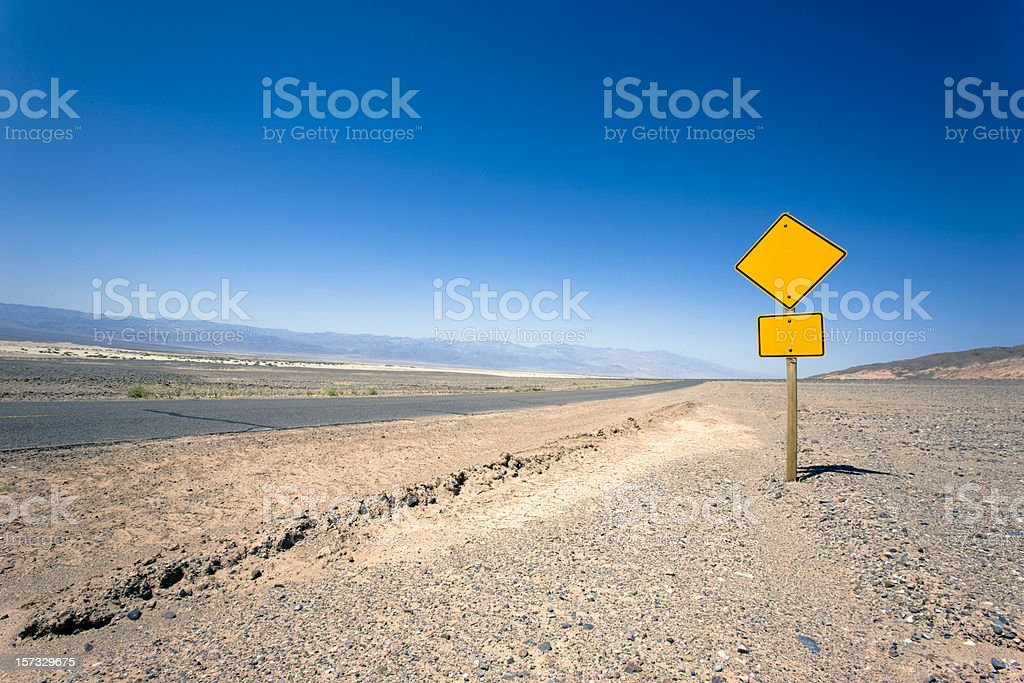 Blank Road Sign (Place your own Text) royalty-free stock photo