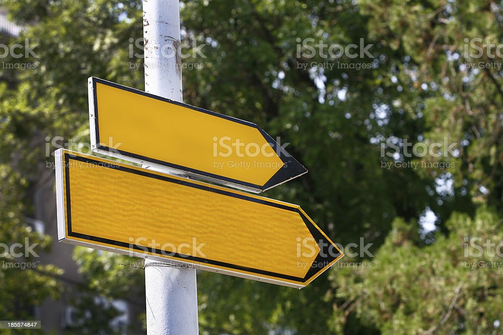 blank Road sign royalty-free stock photo