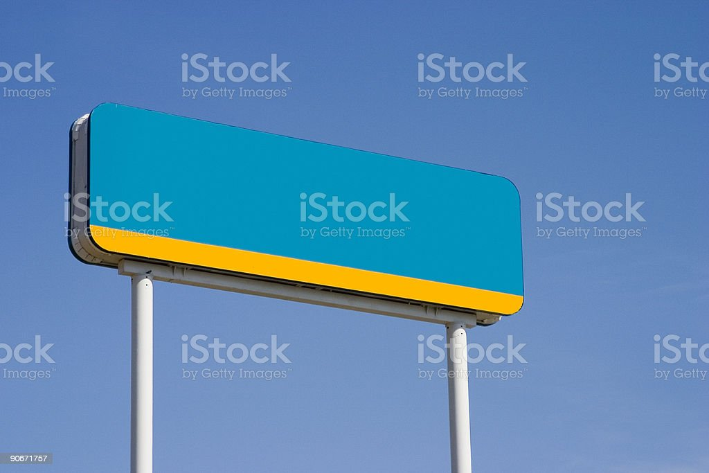 Blank Road-Side Sign royalty-free stock photo