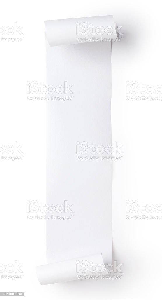 blank roll paper stock photo