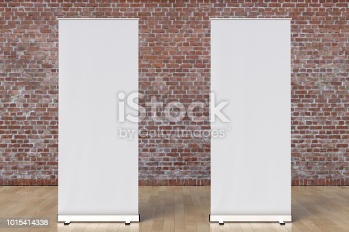 istock blank roll up banner display stands loft interior 1015414338