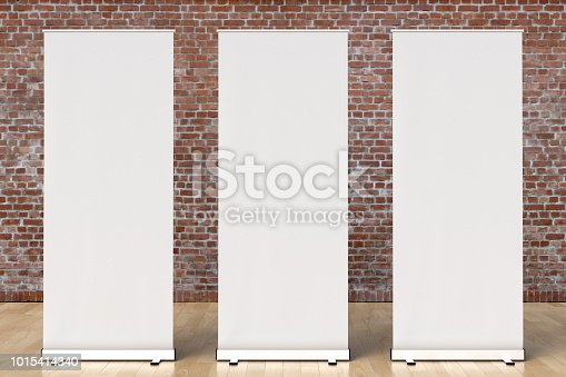 istock blank roll up banner display stands loft interior 1015414340