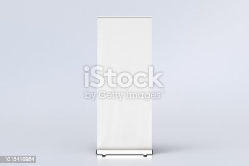 istock blank roll up banner display stands on white 1015416984