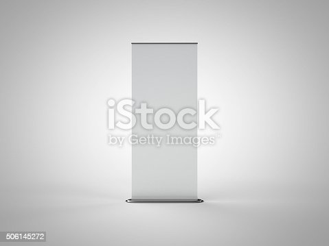istock Blank Roll Up Banner 506145272