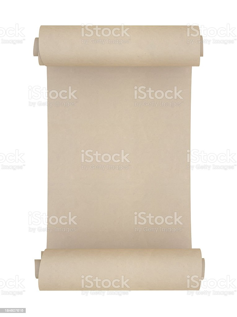 Blank Rolled paper stock photo