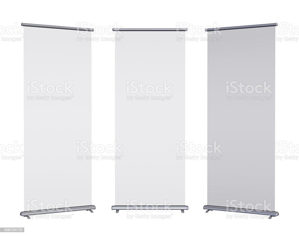 Em branco Rolo banner-até - fotografia de stock