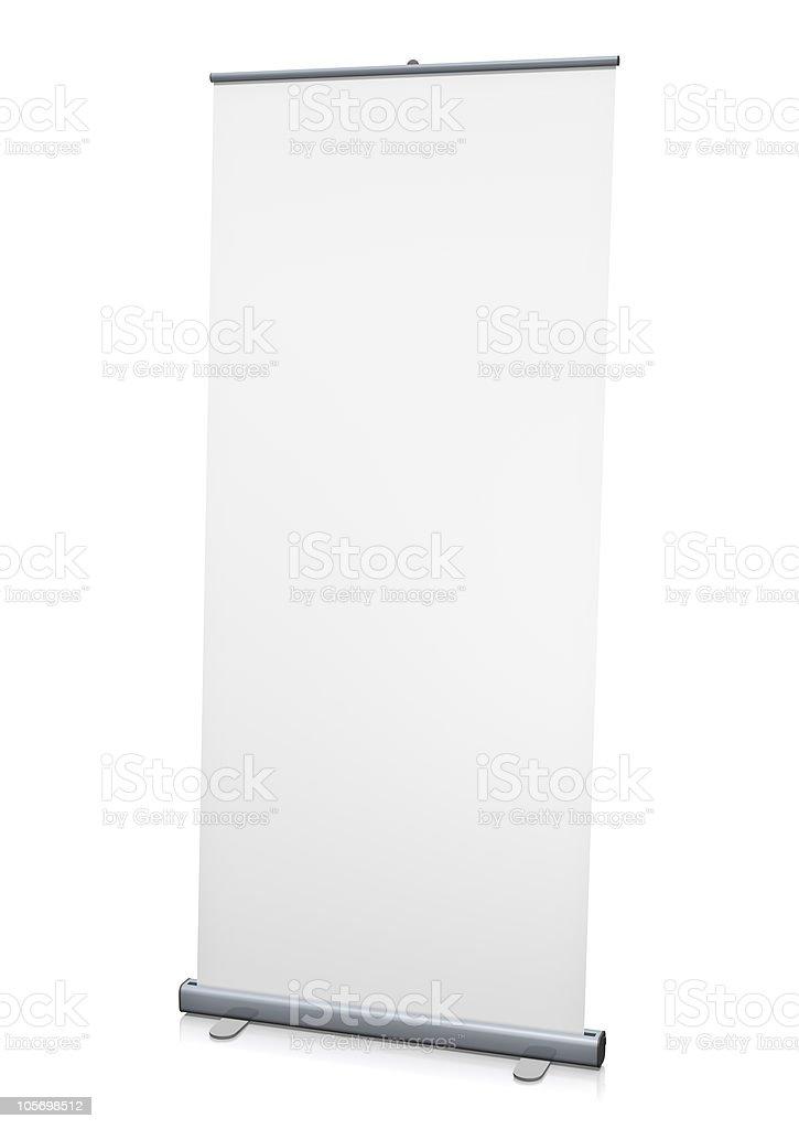 Leere roll-up oder pull-up banner-auf einem weißen Hintergrund. – Foto