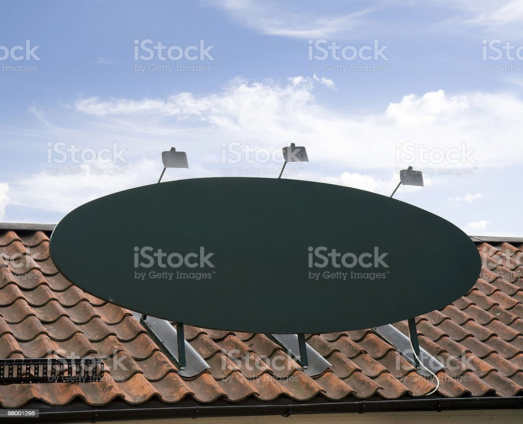 Blank roof sign royalty free stockfoto
