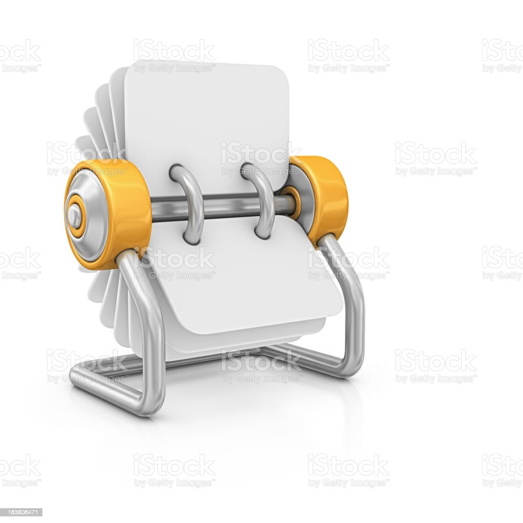 blank rotary card file stock photo