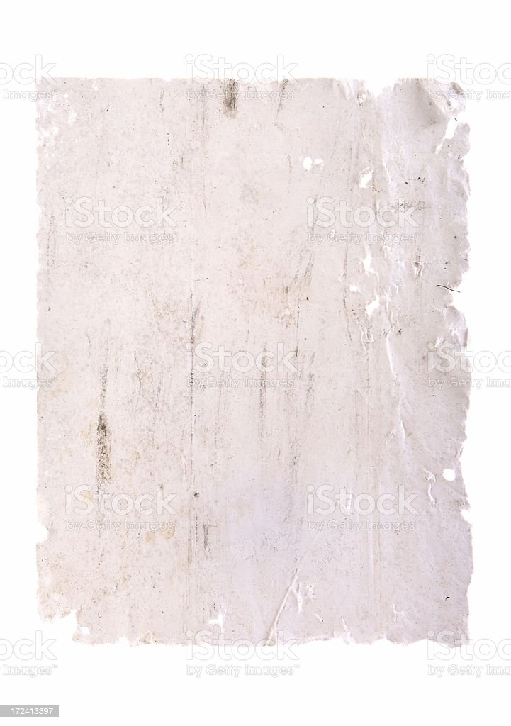 Blank Rotten Poster Paper stock photo