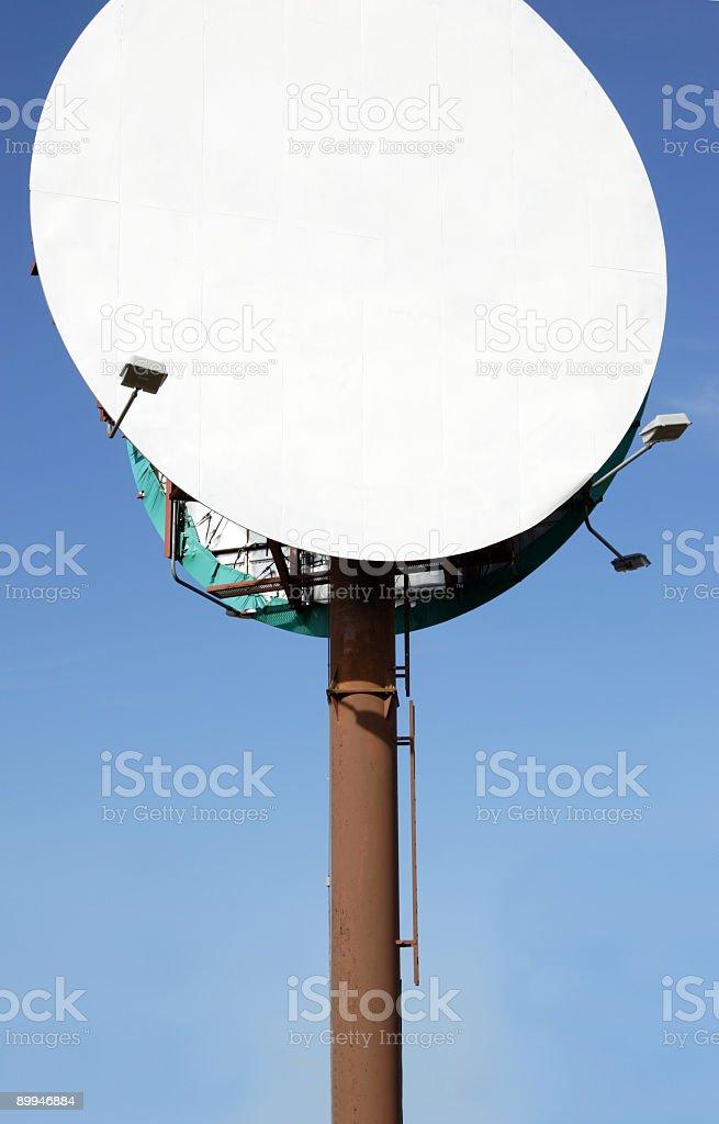 blank round billboard royalty-free stock photo
