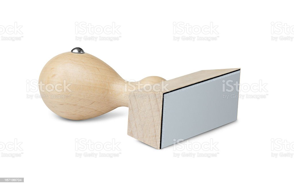 Blank rubber stamp royalty-free stock photo