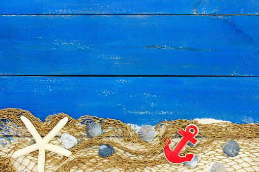 istock Blank rustic nautical sign 480136040