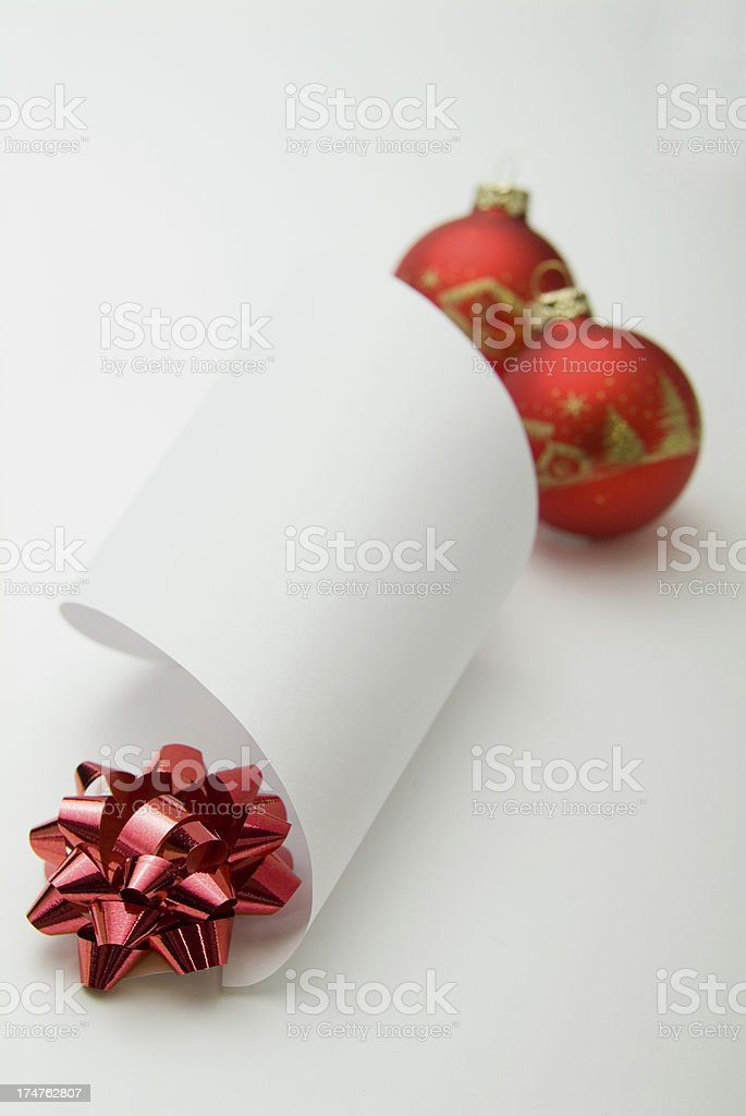 Blank Santa's Wish list Series royalty-free stock photo