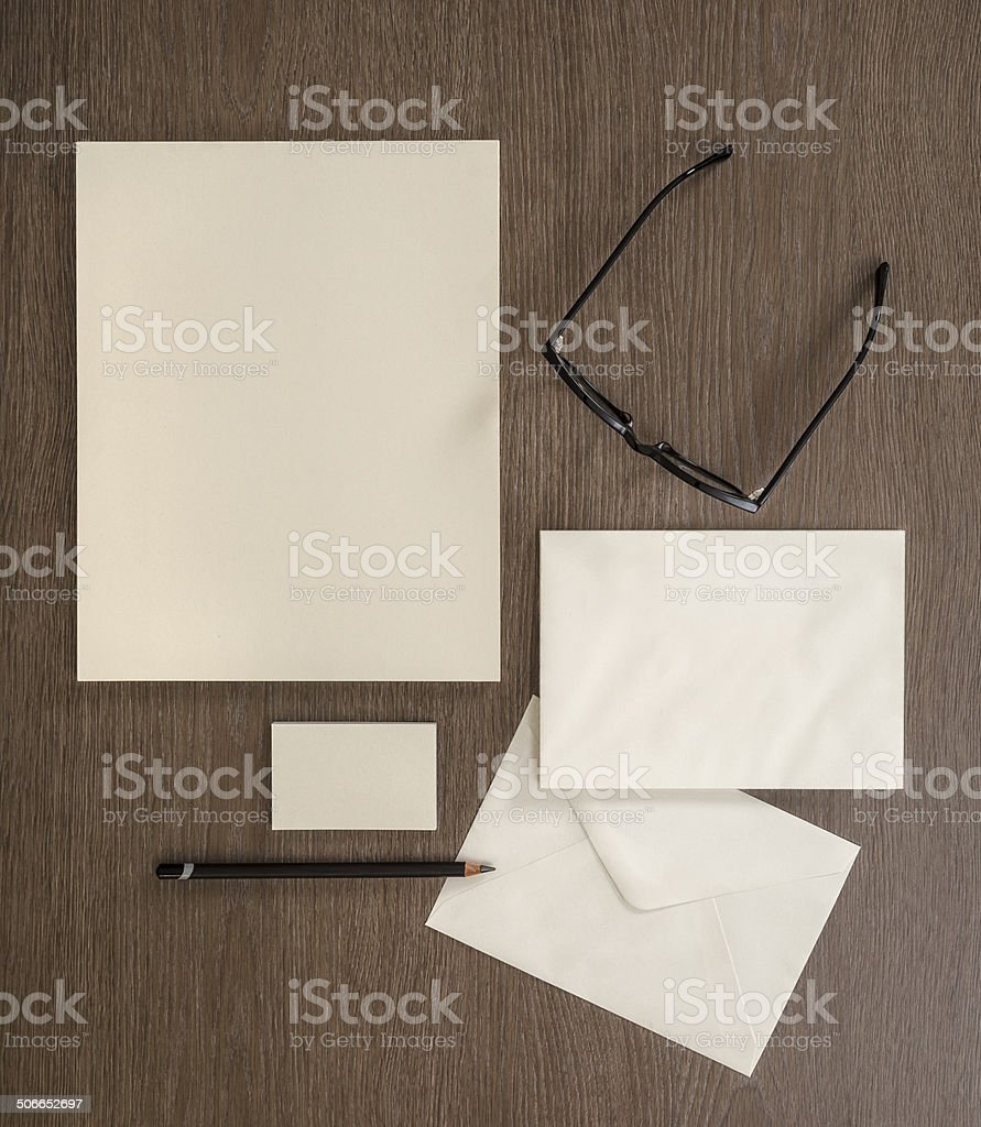 Blank Sationery For Mock Up Stock Photo   Download Image Now