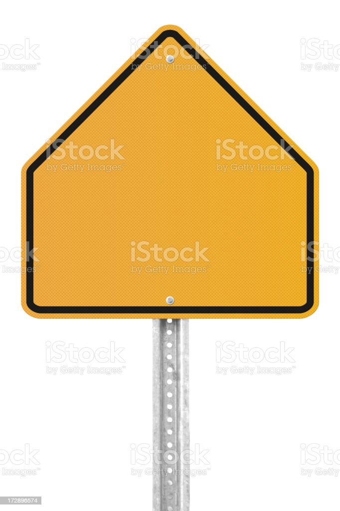 Blank School Zone Sign royalty-free stock photo