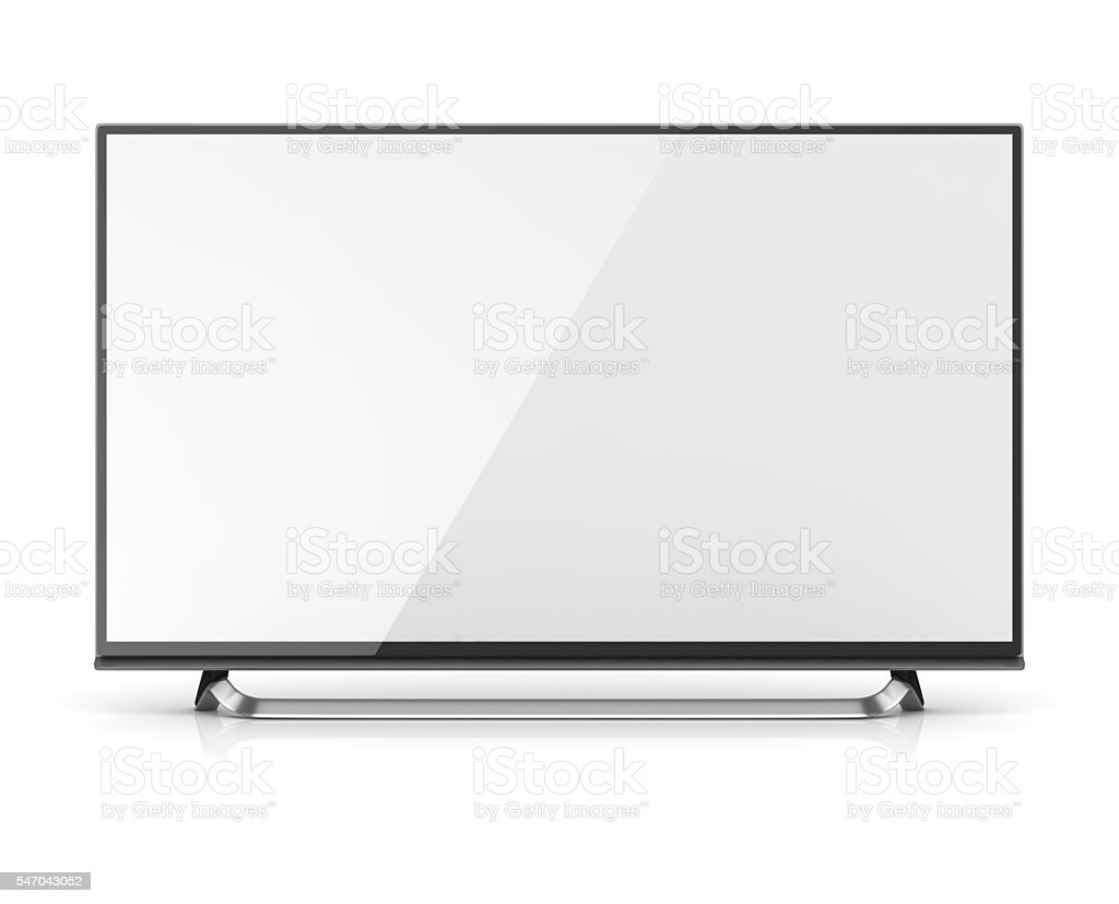 Blank screen 4k hd television stock photo
