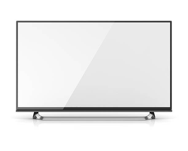 Blank screen 4k hd television Blank screen 4k hd television , This is a 3d computer generated image. Isolated on white. ultra high definition television stock pictures, royalty-free photos & images