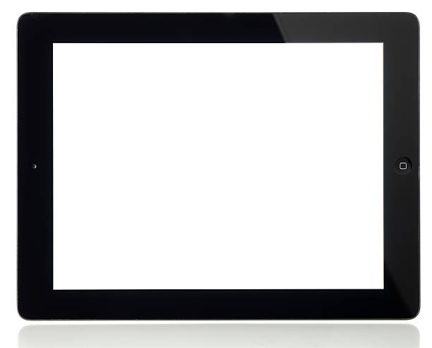 pusty ekran apple ipad 2 na białym tle - ipad zdjęcia i obrazy z banku zdjęć