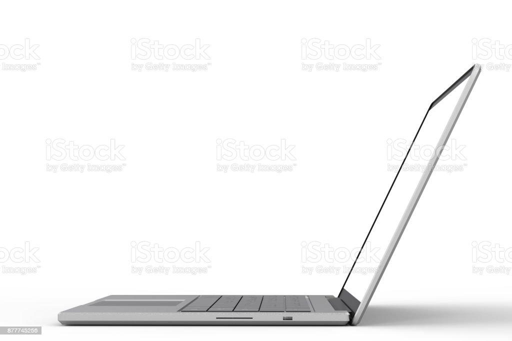 blank screen laptop stock photo