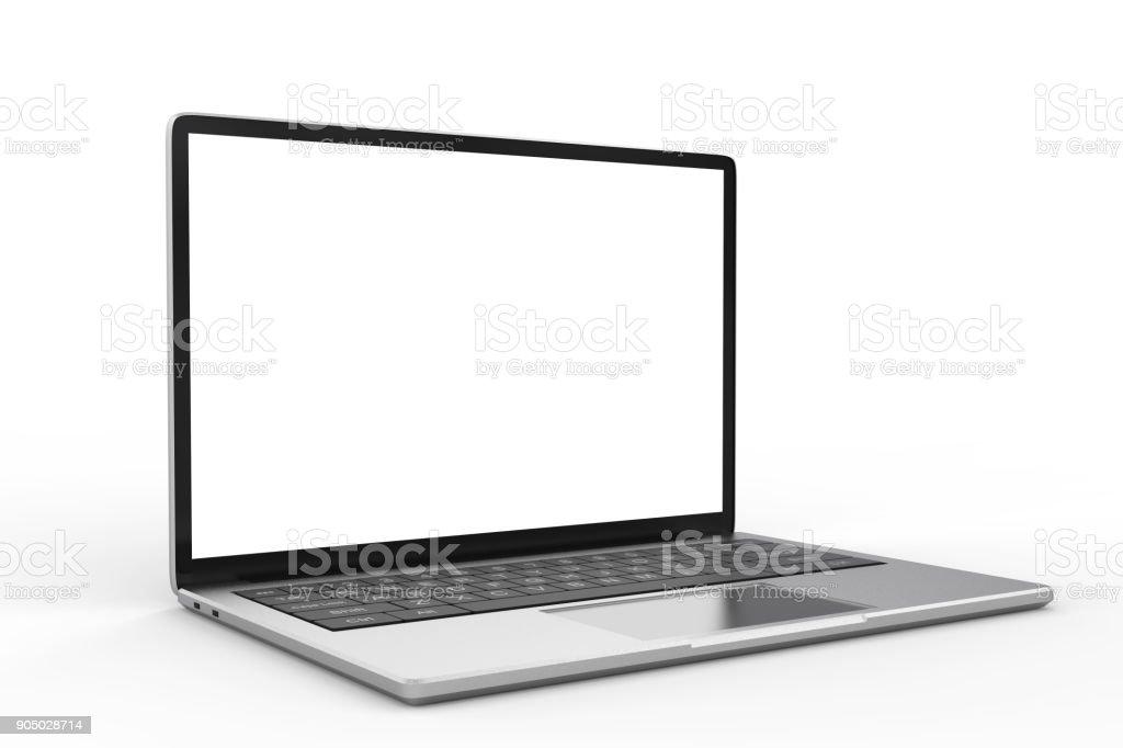 blank screen laptop - fotografia de stock