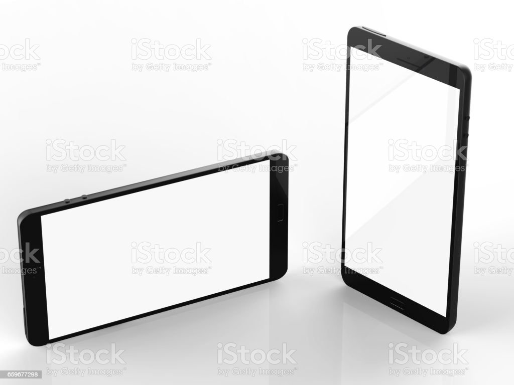 blank screen mobile phone stock photo