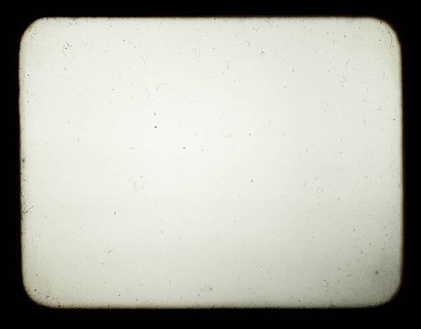 pantalla en blanco del viejo proyector de diapositivas. - sepia imagen virada fotografías e imágenes de stock