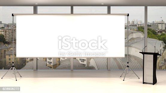 istock Blank screen 628908272