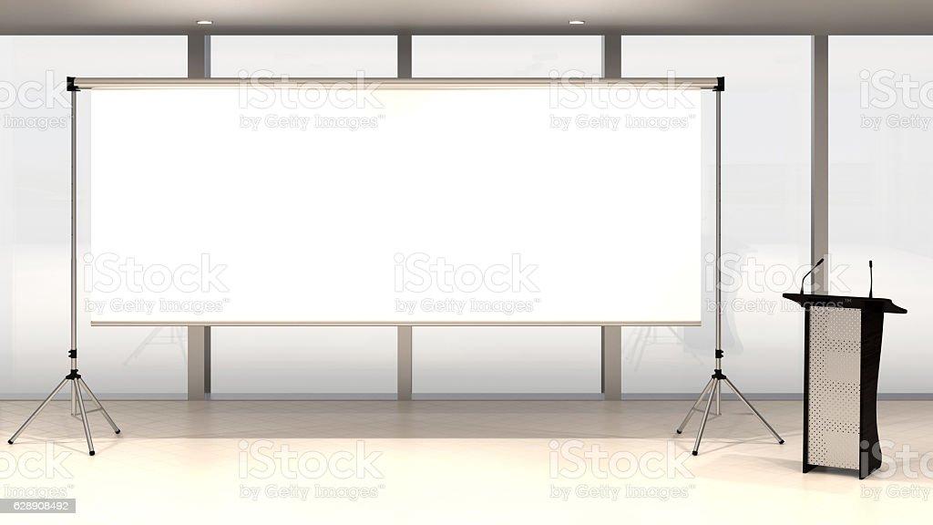 Blank screen stock photo