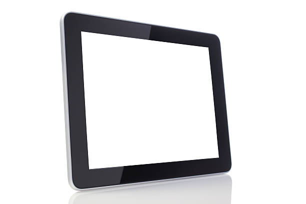 Blank Screen Tablet with Clipping Path stock photo