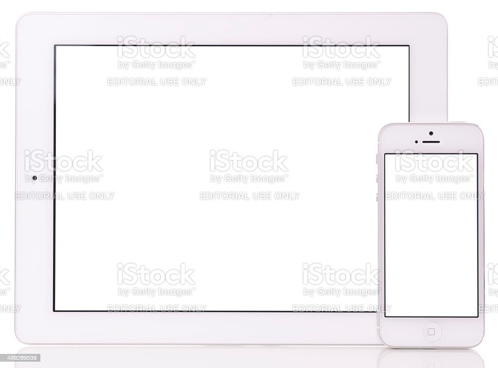 Blank screen The New iPad and iPhone 5 stock photo
