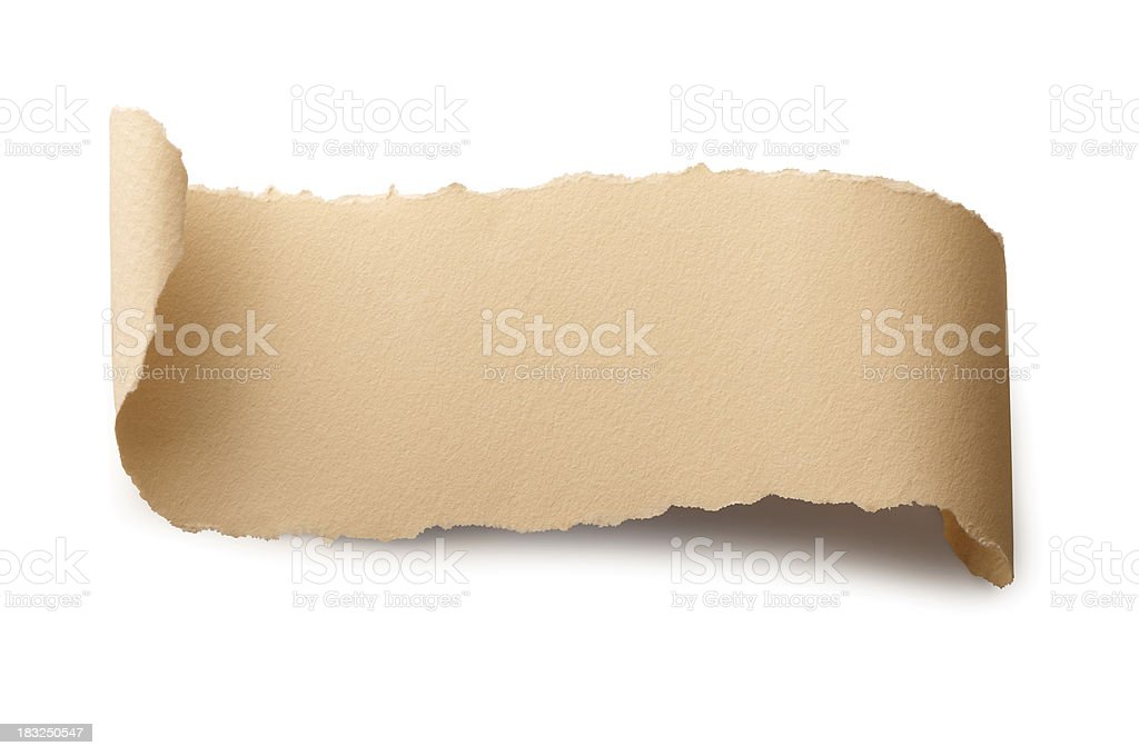 blank scroll 'clipping path' royalty-free stock photo