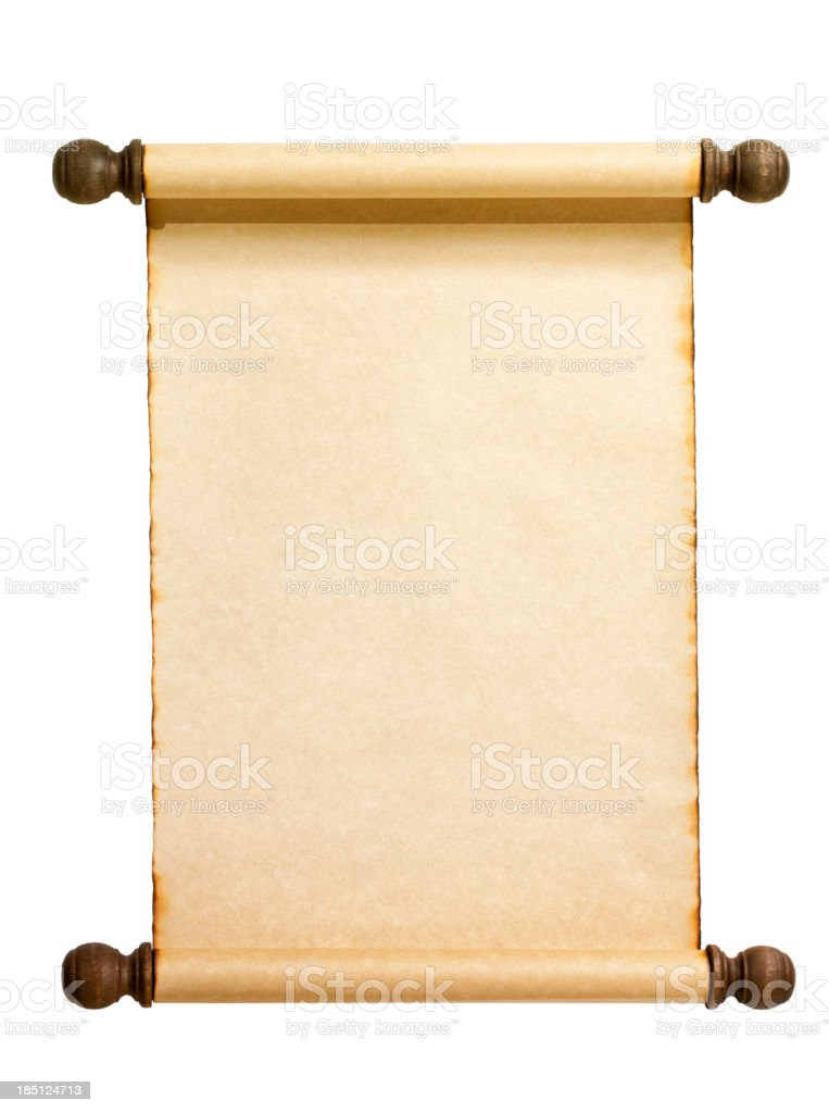 Blank Scroll Isolated on white. royalty-free stock photo