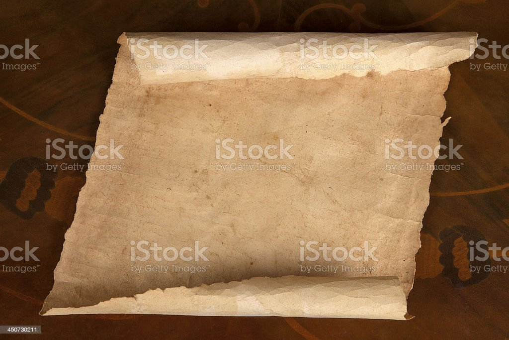 Blank Scroll on brown background