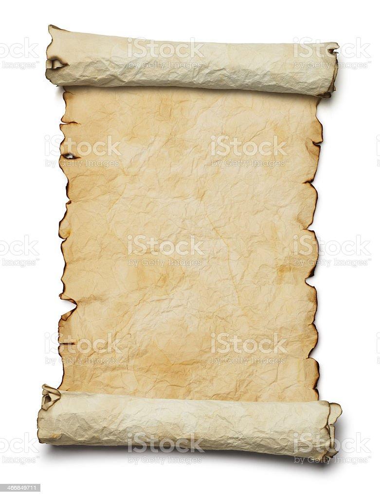 Blank Scroll stock photo