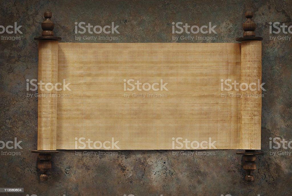 Blank Scrolls Open stock photo