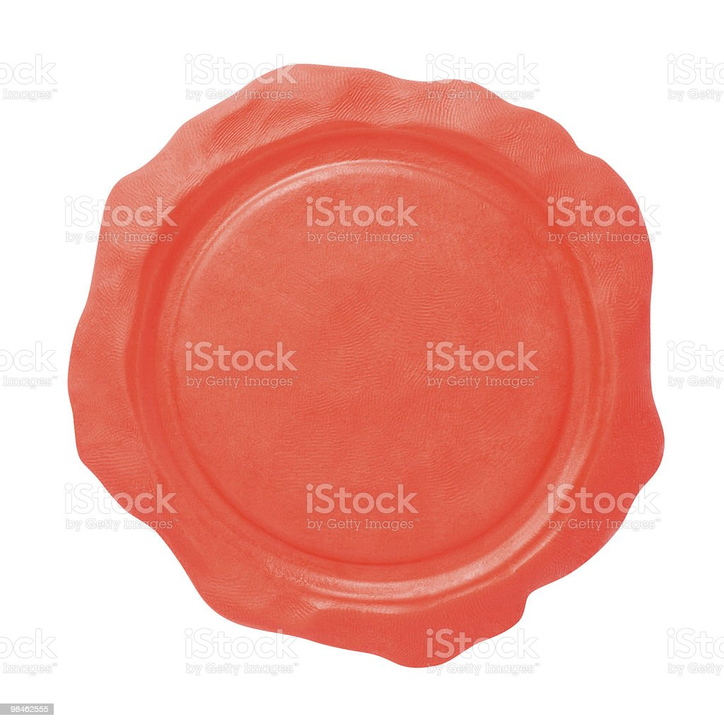 Blank seal. Copy space pattern royalty-free stock photo