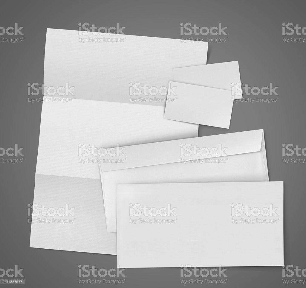 Blank Set Stationery Corporate ID royalty-free stock photo