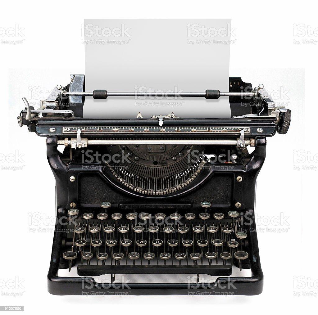 blank sheet in a typewriter royalty-free stock photo