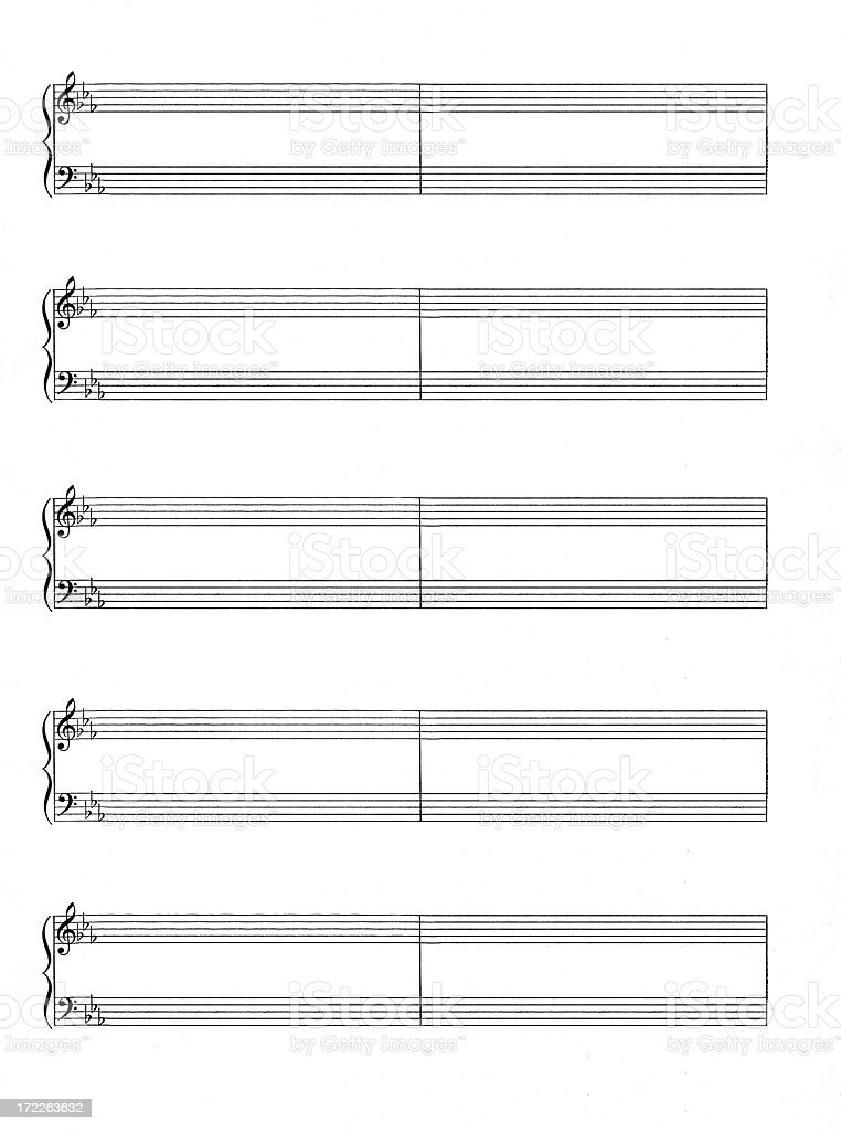 Blank Sheet Music stock photo