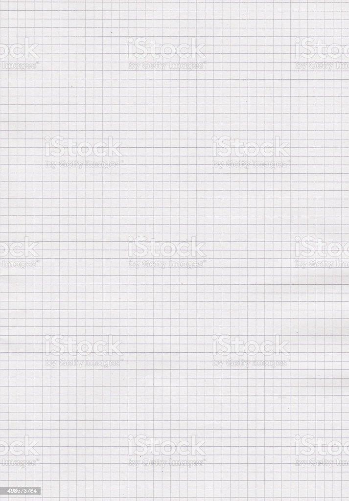 Blank sheet of maths paper stock photo