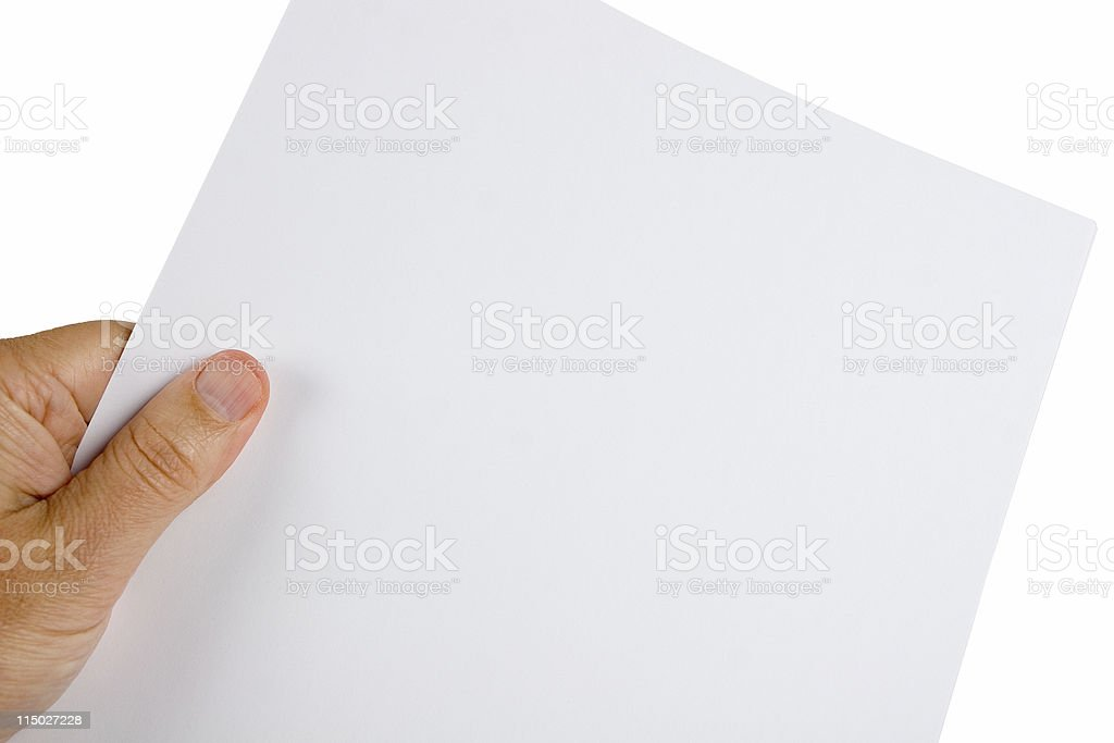 Blank sheet of paper - Add your own text royalty-free stock photo