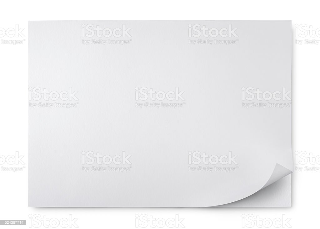 Blank sheet of two paper stock photo